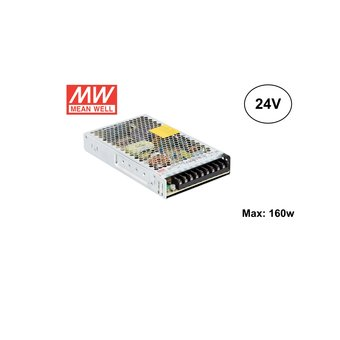 MeanWell Led Strip voeding 24V/200W/8A, Max: 160w, 2 Jaar Garantie