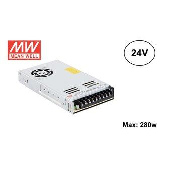 MeanWell Led Strip voeding 24V/350W/14A, Max: 280w, 2 Jaar Garantie