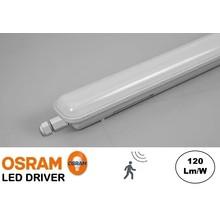 Led Tri Proof 123cm, 36w, 4320 Lumen (120lm/w), Met Bewegingssensor, Koppelbaar, Osram LED Driver, IP65, 3 jaar garantie