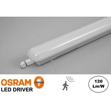 Led Tri Proof 153cm, 50w, 6000 Lumen (120lm/w), Met Bewegingssensor, Koppelbaar, Osram LED Driver, IP65, 3 jaar garantie