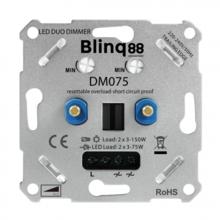 WEEKACTIE: Blinq Universele DUO LED Dimmer 2x 3-75w met elektronische zekering