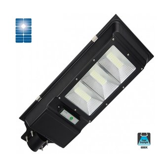 LED Solar Straatlamp 60w, 5400 Lumen, 6000K Daglicht Wit, IP65, 3 Jaar Garantie