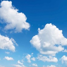 Fotoprint afbeelding Wolken 60x60cm voor 1x 60x60cm led paneel