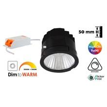 LED Module 7w, 600 Lumen, Dim To Warm, CRI90, Dimbaar, Incl. Driver, 2 Jaar Garantie