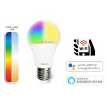 Idinio Smart WiFi E27 Globe lamp 10w, RGB+CCT, 806 Lumen, Werkt via Idinio App / Google Assistant / Amazon Alexa, 2 Jaar Garantie