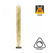 E27 Led Lamp 4w Edison, Tube, 2300K Flame, 180 Lumen, Dimbaar, Smoked Glas, 2 Jaar Garantie