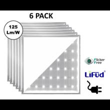 6 PACK - Basic Backlite LED Paneel 60x60cm, 36w, 4500 Lumen (125lm/), Flikkervrije Lifud Driver, Stekkerklaar, 3 Jaar Garantie