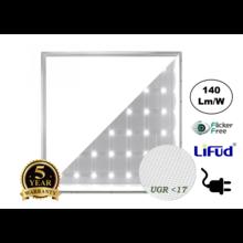 PRO Backlite LED Paneel 60x60cm, 30w, 4020-4325 Lumen (130-140lm/w), UGR17, Flikkervrije Lifud Driver, Stekkerklaar, 5 Jaar Garantie