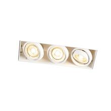 Trimless Inbouw Spot Armatuur, gatmaat 270x89mm, Wit, incl. Stucrand (3x GU10 50mm spot)