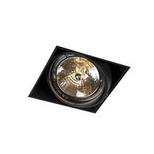 Trimless Inbouw Spot Armatuur, gatmaat 157x157mm, Zwart, incl. Stucrand (1x G53 AR111 spot)