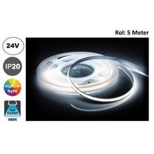 Led Strip ROL 5 Meter COB, 8,8w/m, 320 led/m, 880Lm/m, 6000K Daglicht wit, CRI90, 24v, IP33, 8mm, 2 Jaar garantie