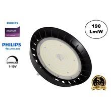 High Bay Led Ufo Xitanium 150w, 28500 Lumen, IP65, Philips Driver en LumiLeds, 1-10v Dimming, 5 Jaar Garantie