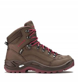 Lowa Renegade GTX Mid Dames bruin/rood