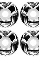 blind Reaper Wheel White Black 4 pack