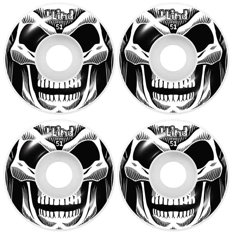 blind Reaper Wheel White Black 4 pack