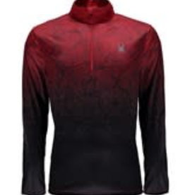 Spyder Limitless 1/4 Zip Dry Web Red/Crackle