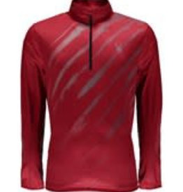Spyder Limitless 1/4 Zip Dry Web red slash