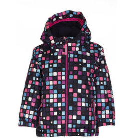 Killtec Cony Allover Mini kinder jas Neon-Pink