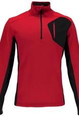 Spyder Bandit Half Zip Red/Black