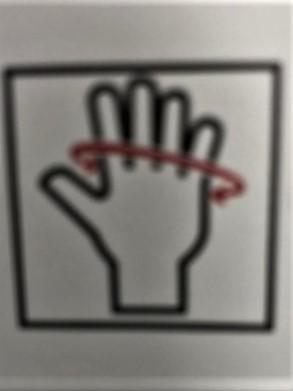 Hand palm opmeten