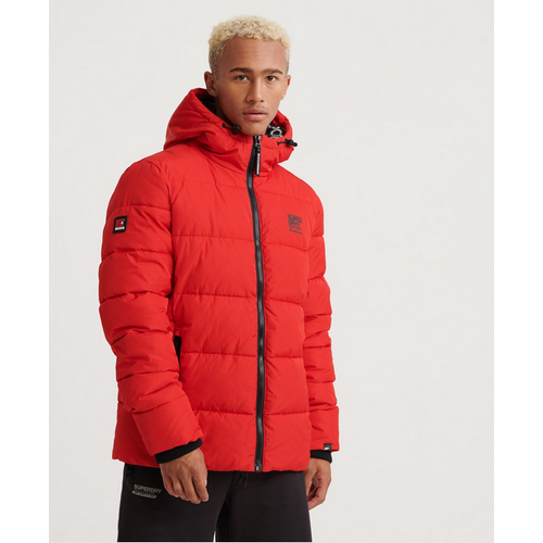SuperDry Taped Sports Puffer Red