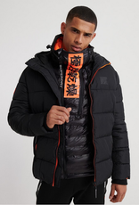 SuperDry Taped Sports Puffer Black