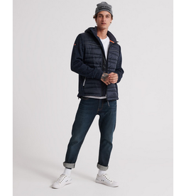 SuperDry Storm Diagonal Quilt Hybrid Navy