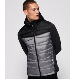 SuperDry Storm Diagonal Quilt Hybrid charcoal