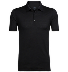 Icebreaker Mens Tech Lite SS Polo Black