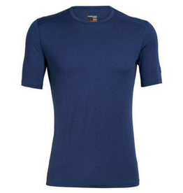 Icebreaker Mens 200 Oasis SS Crew Estate Blue