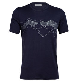 Icebreaker Mens Tech Lite SS Crew Midnight Navy