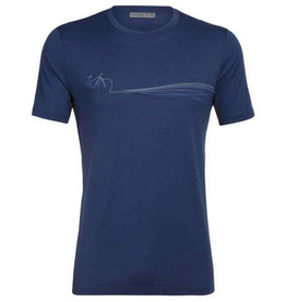 Icebreaker Mens Tech Lite SS Crew Estate Blue