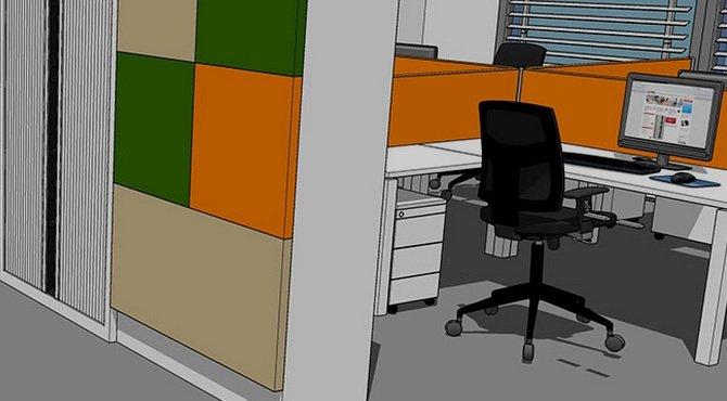 Gratis 3D tekening voor uw kantoorinrichting