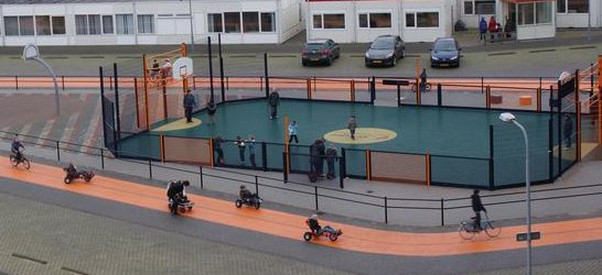 Cruyff Court Heliomare Onderwijs mede dankzij Inofec