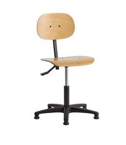 INOFEC Werkplaatsstoel W4 met glijdoppen