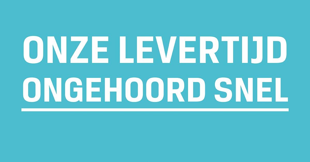Op onze levertijd is speedy gonzales jaloers