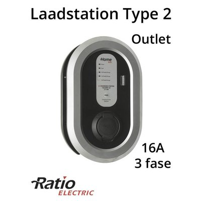 Ratio EV Laadstation type 2 Outlet 16A 3 fase