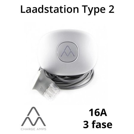 Charge Amps Halo Laadstation type 2, 3 fase 16A - Schuko