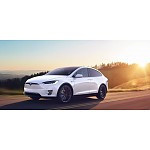 Laadstation Tesla Model X met ge-upgrade lader