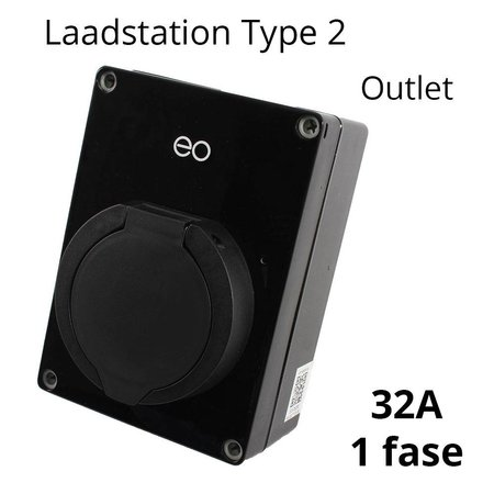 EO EOmini Laadstation type 2 Outlet 32A Zwart
