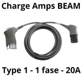 Charge Amps BEAM Laadkabel type 1 - 1 fase 20A - 5 meter