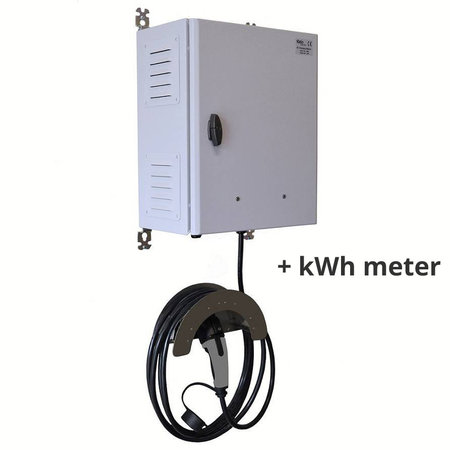 Ratio EV Transformer Charger (3 x 16A -> 1 x 32A) met kWh meter
