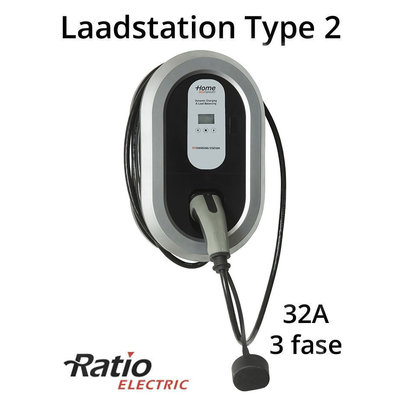 Ratio Home Box Smart 32A 3 fase + 5 meter laadkabel type 2