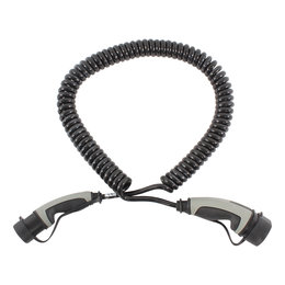 Ratio Laadkabel type 2 naar type 2 - coiled - 3 fase 16A - 4 meter