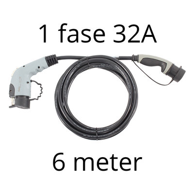 Ratio Laadkabel type 1 - 1 fase 32A - 6 meter