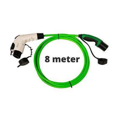 Ratio Laadkabel type 1 - 1 fase 32A - 8 meter Groen