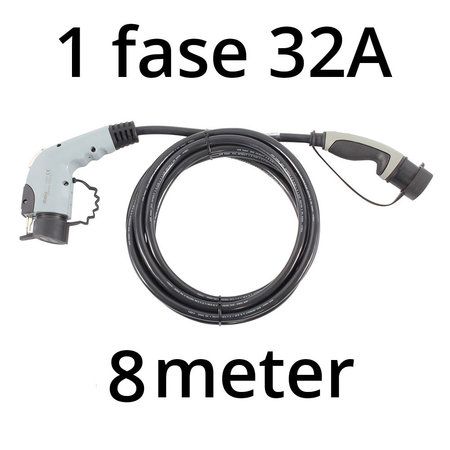 Ratio Laadkabel type 1 - 1 fase 32A - 8 meter
