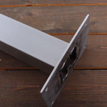 EO Roestvrijstalen paal voor EO Genius en EO Basic - Vierkant Dubbel