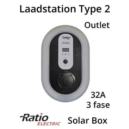 Ratio Solar Box Outlet 32A 3 fase + kWh meter