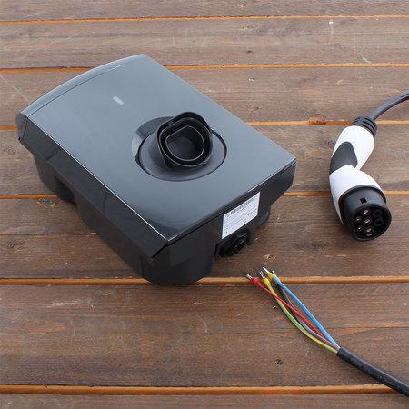 Alfen  Eve Single S-line - 1 x 32A (7,4kW) - 5 meter kabel type 2 - Grijs